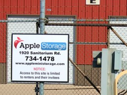 Apple Storage Sign